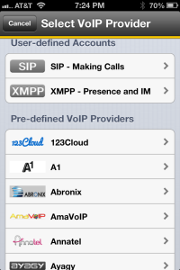 Bria Softphone application for iPhone - 75 VoIP providers pre-configured